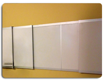Multi Level Sliding Wall Mounted Whiteboards